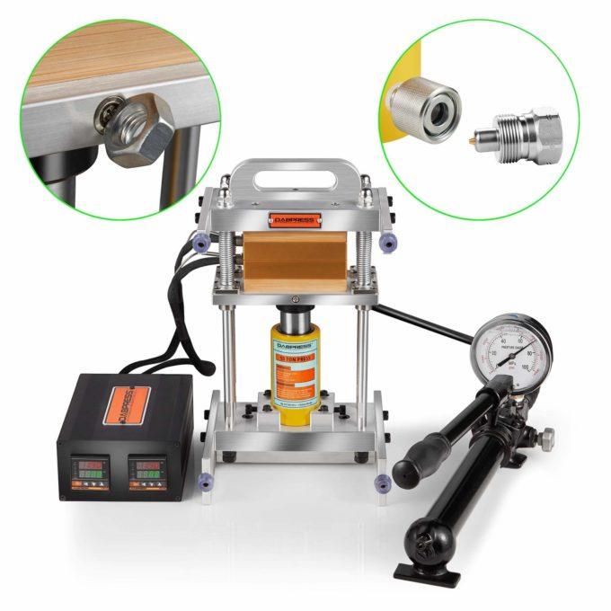 Mini rosin lis pro lisování extraktů a hydraulická pumpa